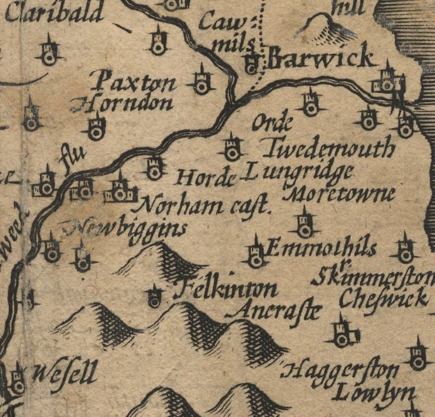 Picture of Speed's map of Northumberland