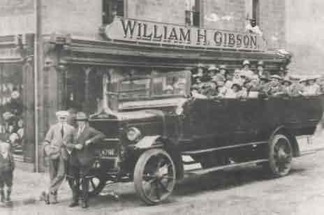 Picture of Bedlington, Charabanc Full of Customers
