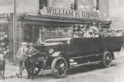 Bedlington, Charabanc Full of Customers - Click for bigger image