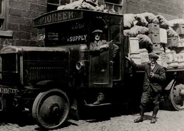 Picture of Cramlington, Co-op lorry during 1926 strike