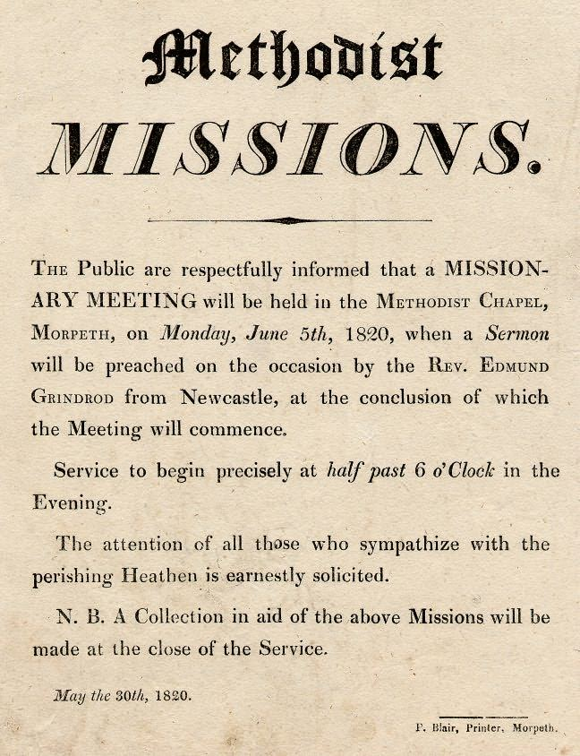 Picture of Notice of Methodist Missionary Meetings