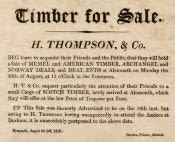 Handbill for Sale of Timber at Alnmouth - Click for bigger image