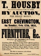 Auction of Goods of Mr. Grimson, East Chevington - Click for bigger image
