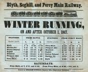 Blyth Railway Timetable - Click for bigger image