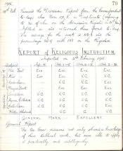 Shilbottle School, Log Book - Click for bigger image