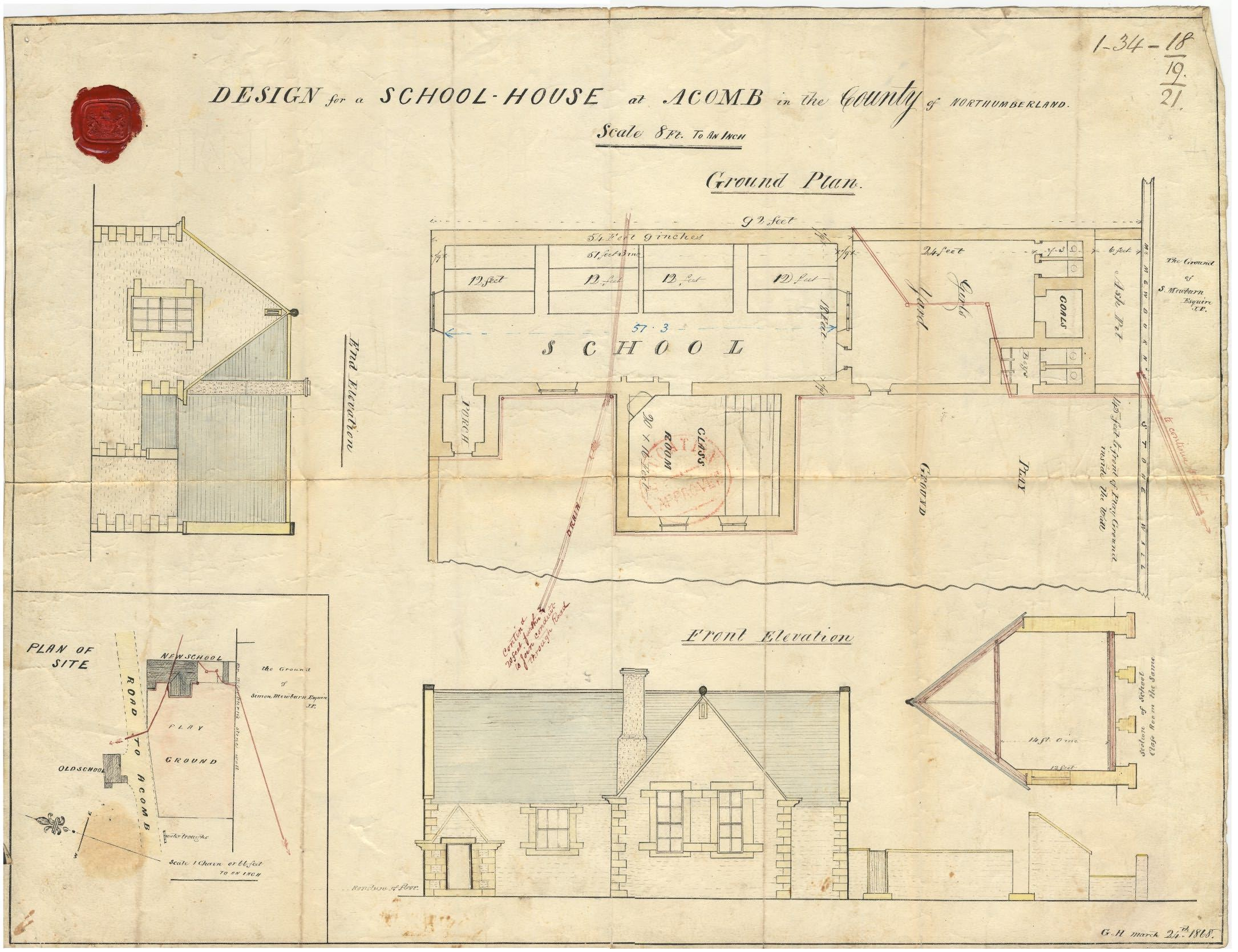 Acomb national school building plan for Old school house plans