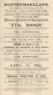 Etal Manor Sale Catalogue - Click for bigger image