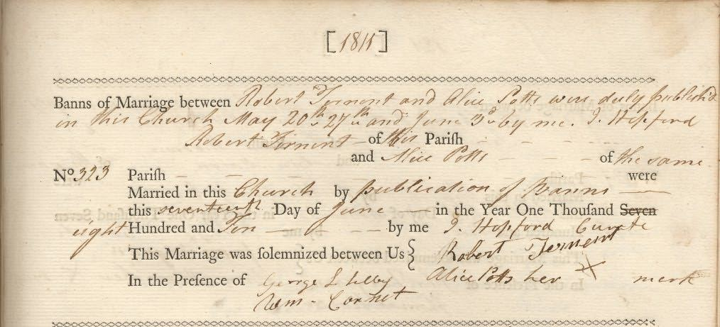 Picture of Belford St. Mary's Marriage Register